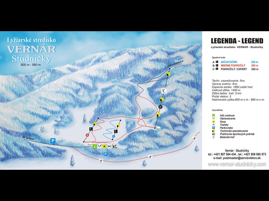 Mapa Vernar Studnicky